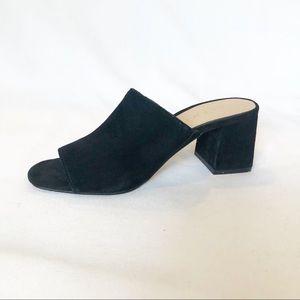 Aldo Zavaglia Mule Square/block Heel black